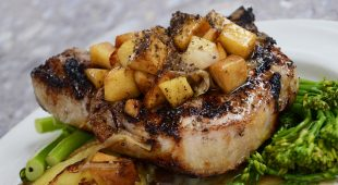 Pork with sweet pears and orange